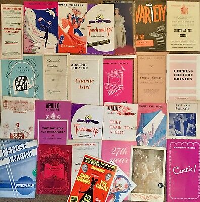 Vintage Theatre Programmes ,great Selection, (25) Rare Items /defunct Theatres
