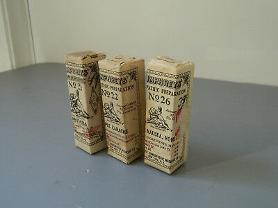 Antique Humphreys Homeopathic Medicine Unopened 21....22....26