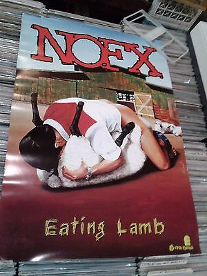 Nofx Eating Lamb Poster Epitaph Large 2Ft 1/2 X 3Ft 1/2 Punk Indie Promo 1996