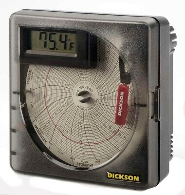 "Dickson SL4350 Temperature Chart Recorder with Digital Display, 4""/101mm Chart"