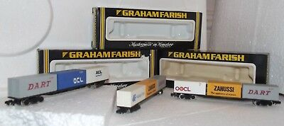 Graham Farish Freightliner Bogue Wagons with Containers 3605 (3)