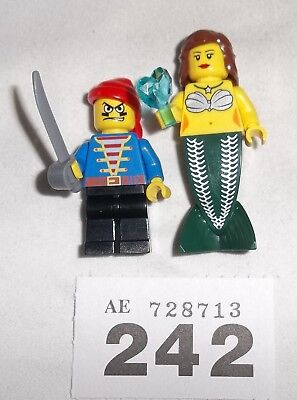 **lego Minifig Pirate With Mermaid **#242