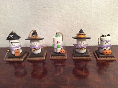 Lot Of 5 Original S'mores Midwest Halloween Ornaments