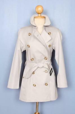 BEAUTIFUL Womens BURBERRY Double Breasted Short TRENCH Coat Mac XS 4/6