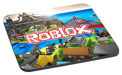 Roblox Logo And City Game - Quality Printed Mouse Mat / Pad
