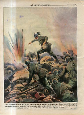 1942 WW2 Russian front Donez area Italian troops repel Soviet Army attack Print
