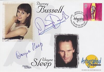Gb Stamps First Day Cover Signed By Dancers Darcey Bussell & Wayne Sleep