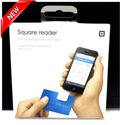 NEW Square Credit Card Reader for Apple and Android (White)