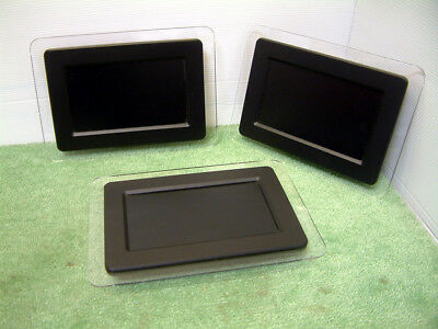 7 inch Digital Photo Frame Clear Perspex and black frame + Power Supply