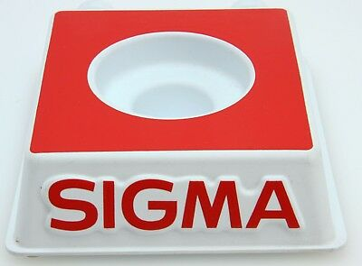 "Sigma plastic Lens Display Stand, 5 x 5.75 x 2"", red, white #935"