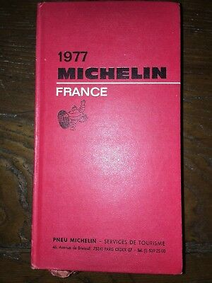 Guide Michelin rouge 1977