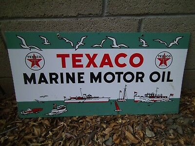 Texaco Marine Motor oil Marina Gas & oil sign