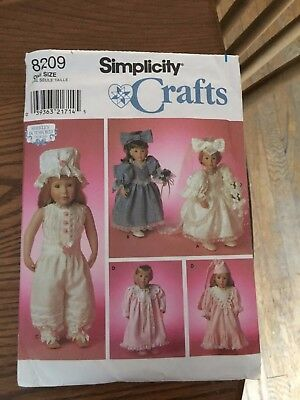 Simplicity Sewing Pattern 8209 18\