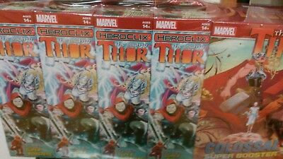 Marvel HeroClix The Mighty Thor SEALED Brick - 8 boosters & 1 Super Booster!