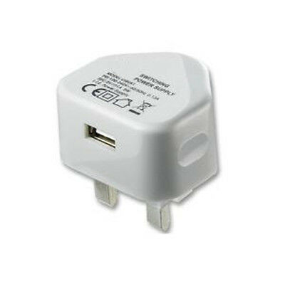 Ex-Pro® UK White USB Mains Charger - 1A, 1000m