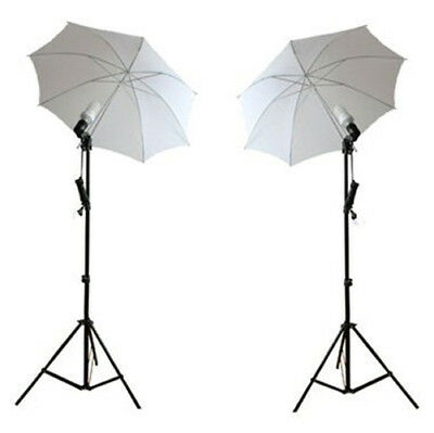 Ex-Pro Continuous Dual Photography Lighting kit 85w Stands & Umbrella - White