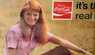 1971 Enjoy Coca Cola, ITS THE REAL THING. Sealed Deck Playing Cards.  Girl in th