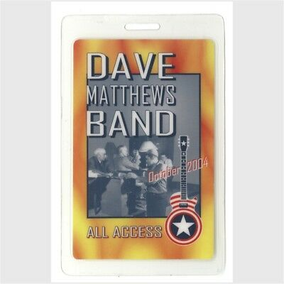 Dave Matthews Band authentic 2004 concert tour Laminated Backstage Pass Vote AA