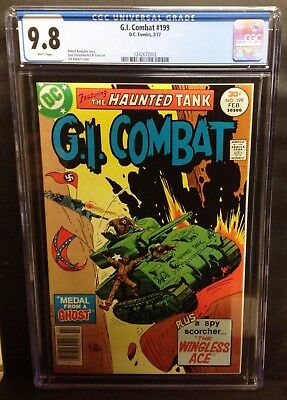 G.i. Combat #199 Cgc 9.8 - 1977 Dc Haunted Tank, Kubert Cover Only 9.8 On Census