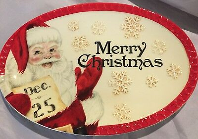 Fitz and Floyd Letters to Santa Holiday Tray Christmas Collectibles New Gift
