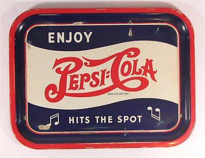 ca1945 PEPSI-COLA TIN LITHOGRAPH ADVERTISING TRAY - SODA FOUNTAIN SERVING TRAY