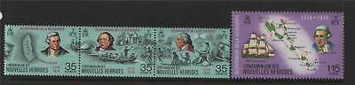 New Hebrides (French) 1974 Discovery SG F207/10 MNH