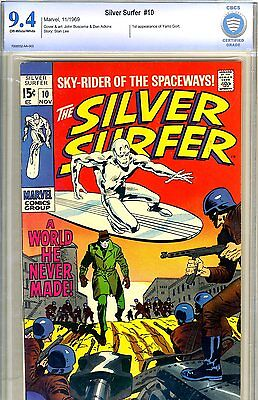 Silver Surfer #10 CBCS/CGC GRADED 9.4 - third highest graded