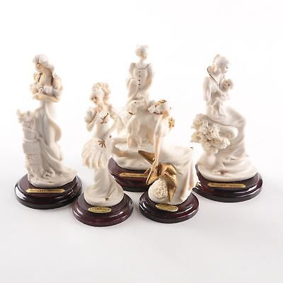 Lot of 5 Capodimonte Giuseppe Armani Porcelain Figurines .99 start No Reserve