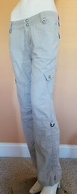 Women's prAna Travel Hiking Camping Outdoor Roll Up Cargo Pants SZ M Stretch