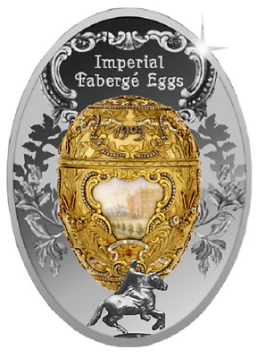Niue Island 2015 $1 Imperial Fabergé Eggs Peter the Great Egg 16.81g Silver Coin