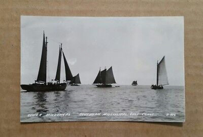 Oyster Schooners,Southern Mississippi Gulf Coast,RPPC,1944