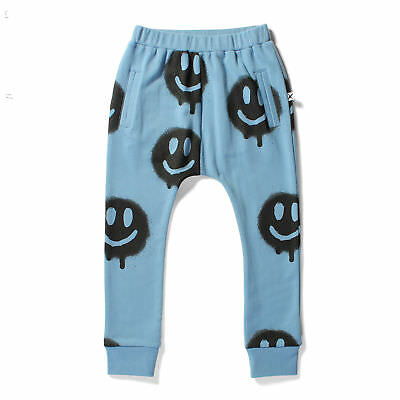 Minti Bronx Trackies Spray Faces Muted Blue