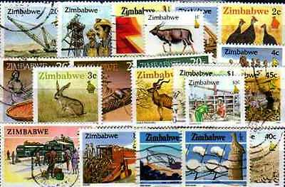 Zimbabwe 100 stamps different