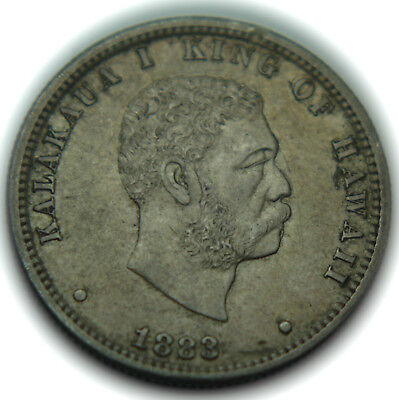 1883 Kingdom of Hawaii Issue Silver Quarter
