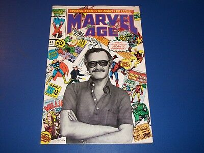 Marvel Age #41 Stan Lee Photograph Cover Key VF- Beauty wow