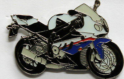 BMW S 1000 RR Motorcycle Enamel BIKER Collector Pin Badge from Fat Skeleton
