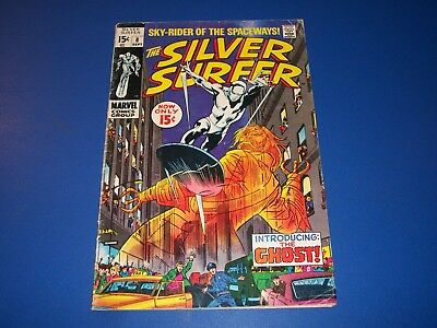 Silver Surfer #8 Silver Age Red Ghost Solid VG