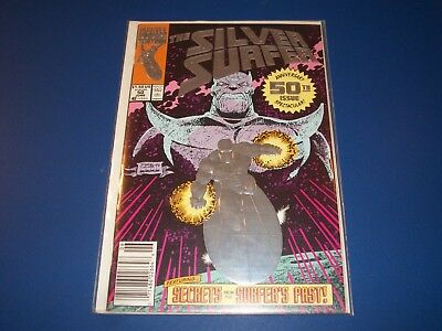 Silver Surfer #50 Awesome Foil Thanos Cover VFNM Gem wow
