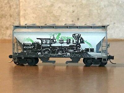 MTL N Scale NAHX 2-Bay Covered Hopper weathered 'AWARE' NEW