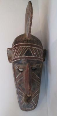 Hand Carved Wooden Ceremonial Warrior African Ancestral Tribal Mask Extra Large