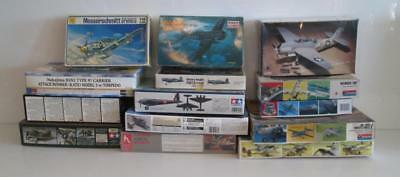 Lot of 14 WW2 WWII Airplane Aircraft Model Kits 1:48 Scale Revell Bomber Corsair