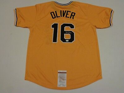 AL OLIVER autographed signed Pirates yellow jersey JSA Witness