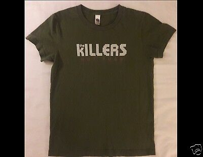 THE KILLERS Hot Fuss Junior Size Medium Green T-Shirt