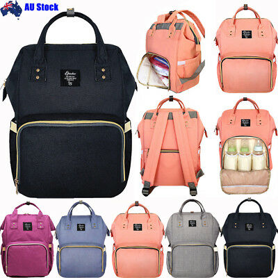 GENUINE Multifunctional Large Baby Diaper Backpack Changing Bag Mummy Nappy AU