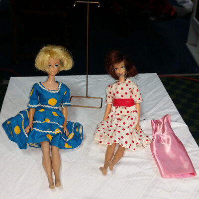 Vintage Barbie Lot Including Dolls Clothes Shoes Paperwork and Trunk