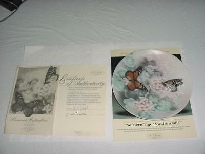 1988 W S George MONARCH BUTTERFLIES First Issue Limited Edition Plate Bradford