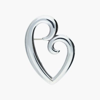 james avery / sterling silver mothers love heart pin / brooch (8g)