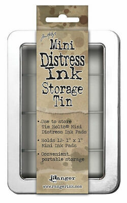 Tim Holtz Mini Distress Ink Pad Storage Tin - Set of 3