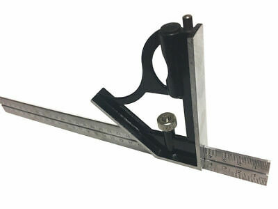 """12"""" Combination Square Stainless Steel Blade and Built-in Level NEW Ruler"""