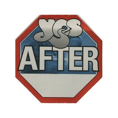 Yes authentic 2002 Full Circle Tour satin Backstage Pass after show red